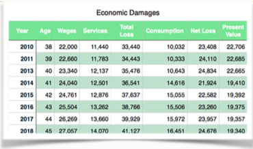 Personal Injury / Lost Earnings Cases